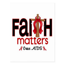AIDS Faith Matters Cross 1 Postcard