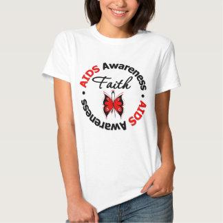 AIDS Faith Scripted Butterfly T-shirt