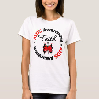 AIDS Faith Scripted Butterfly T-Shirt