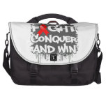 AIDS Fight Conquer and Win Laptop Computer Bag