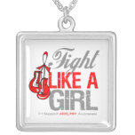 AIDS -  Fight Like a Girl Boxing Gloves Pendant