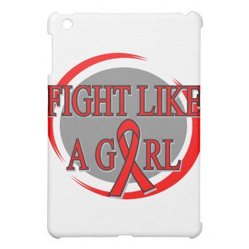 AIDS Fight Like A Girl Circular Case For The iPad Mini