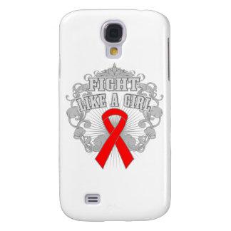 AIDS Fight Like A Girl Fleurish Samsung Galaxy S4 Case