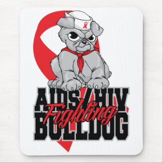 AIDS Fighting Bulldog Pup Mouse Pad