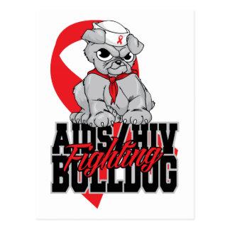 AIDS Fighting Bulldog Pup Postcard