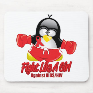 AIDS Fighting Penguin Mouse Pad