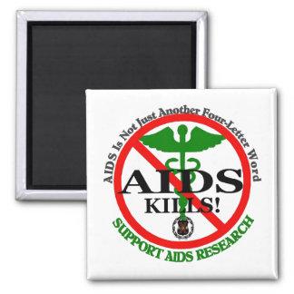 AIDS green magnet template