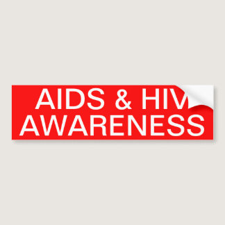 AIDS & HIV Awareness Bumper Sticker