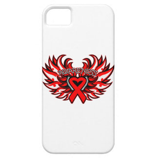 AIDS HIV Awareness Heart Wings iPhone SE/5/5s Case