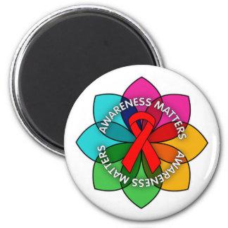 AIDS HIV Awareness Matters Petals Magnets