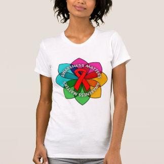 AIDS HIV Awareness Matters Petals T Shirts