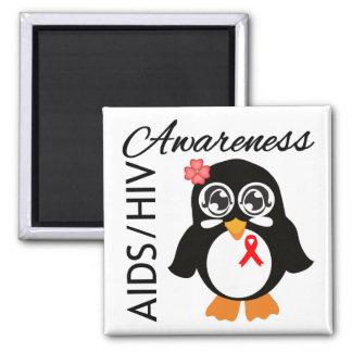 AIDS HIV Awareness Penguin Fridge Magnet