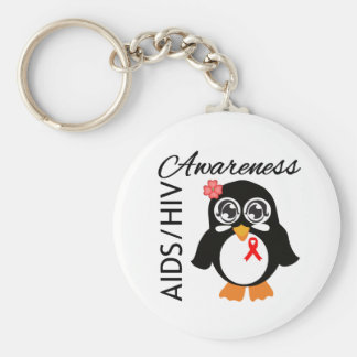 AIDS HIV Awareness Penguin Keychain