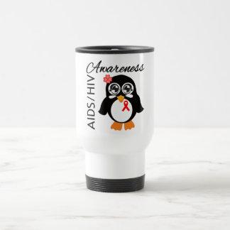 AIDS HIV Awareness Penguin 15 Oz Stainless Steel Travel Mug