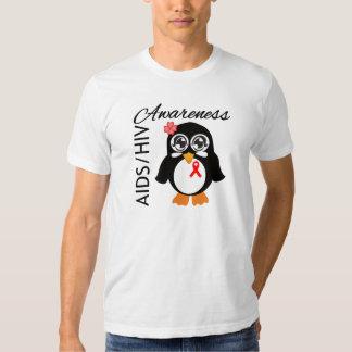 AIDS HIV Awareness Penguin T Shirt