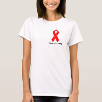 AIDS HIV Awareness Red Ribbon T-Shirt