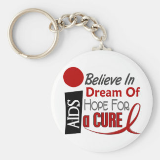 AIDS / HIV BELIEVE DREAM HOPE KEYCHAIN