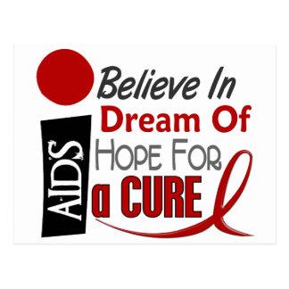 AIDS / HIV BELIEVE DREAM HOPE POSTCARD