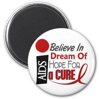 AIDS / HIV BELIEVE DREAM HOPE REFRIGERATOR MAGNET