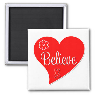 AIDS HIV Believe Red Heart Fridge Magnets