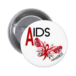 AIDS HIV Butterfly 3 Awareness Pinback Buttons