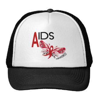 AIDS HIV Butterfly 3 Awareness Mesh Hats