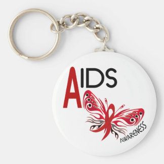 AIDS / HIV Butterfly 3 Awareness Key Chain