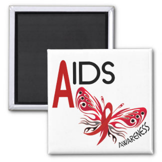 AIDS / HIV Butterfly 3 Awareness Refrigerator Magnet