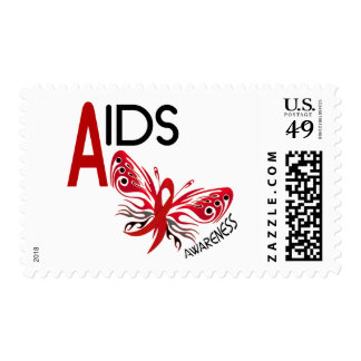 AIDS / HIV Butterfly 3 Awareness Postage