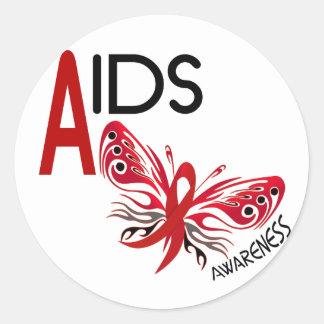 AIDS / HIV Butterfly 3 Awareness Sticker
