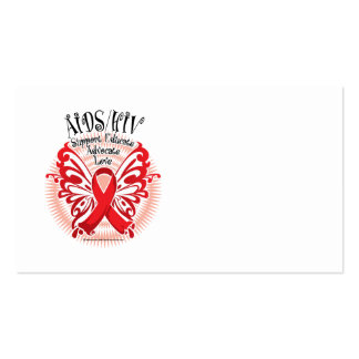 AIDS/HIV Butterfly 3 Double-Sided Standard Business Cards (Pack Of 100)