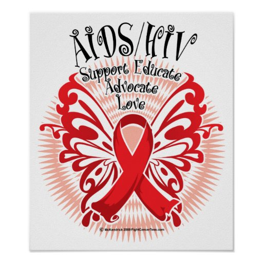 AIDS/HIV Butterfly 3 Print