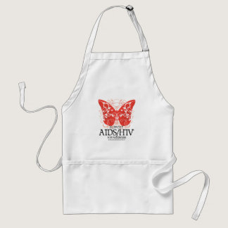 AIDS/HIV Butterfly Adult Apron