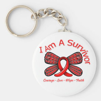 AIDS HIV Butterfly I Am A Survivor Key Chain