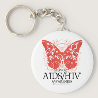 AIDS/HIV Butterfly Keychain