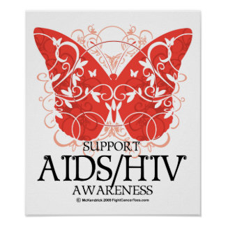 AIDS HIV Butterfly Print