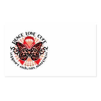 AIDS/HIV Butterfly Tribal 2 Business Cards