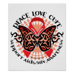 AIDS/HIV Butterfly Tribal 2 Print