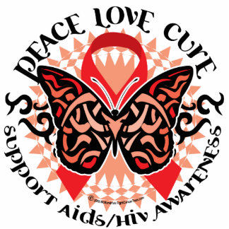AIDS/HIV Butterfly Tribal 2 Statuette