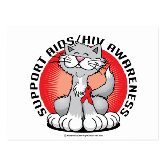 AIDS/HIV Cat Postcard