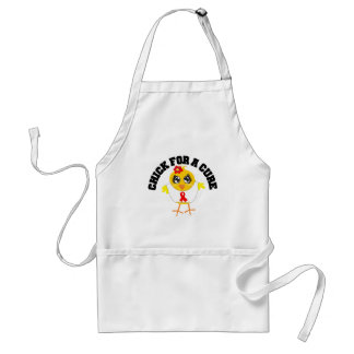 AIDS HIV Chick For A Cure Apron