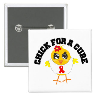 AIDS HIV Chick For A Cure Pins