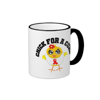 AIDS HIV Chick For A Cure Mugs