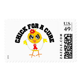 AIDS HIV Chick For A Cure Postage Stamp
