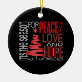 AIDS HIV Christmas 1 Ornaments