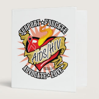AIDS/HIV Classic Heart Binder