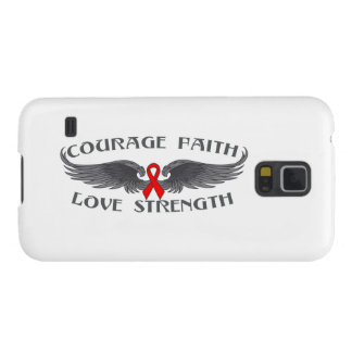 AIDS HIV Courage Faith Wings Galaxy S5 Cover