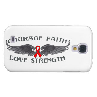 AIDS HIV Courage Faith Wings Samsung Galaxy S4 Cases