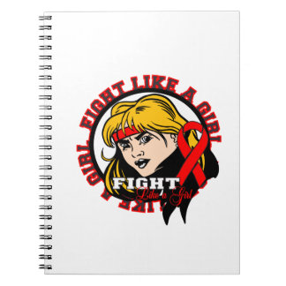 AIDS HIV Fight Like A Girl Attitude Spiral Note Books