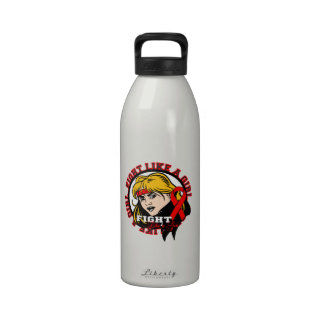 AIDS HIV Fight Like A Girl Attitude Water Bottle